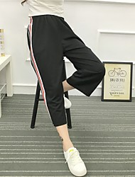 Hong Kong flavor Korean chic classic retro color bars sports pants trousers for men and women