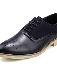Fashion Bullock Caved Shoes For Men Comfort Oxfords Wedding Shoes Party & Evening Low Heel Lace-up