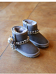 Girl's Boots Others Cowhide Casual Black Purple Gray