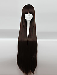 Cosplay Wigs Cosplay Cosplay Brown Long / Straight Anime Cosplay Wigs 110cm CM Heat Resistant Fiber Female