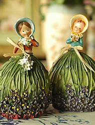 Noiva / Noivo / Dama de Honor / Padrinho do Noivo / Menina das Flores / Portador do Anél / Casal / Pais Presentes Piece / SetDecoração de