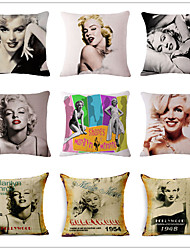 1 PC The nNew Creative Sexy Goddess Marilyn Monroe Posters Hold Pillow Case Restoring Ancient Ways Household Pillows Cushion Cushion for Leaning On