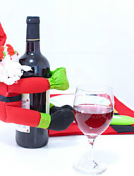 Red Wine Champagne Santa Snowman Bottle Of Bottle Thing