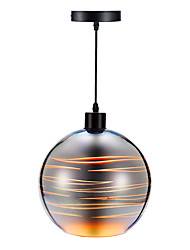 40W Pendant Light ,  Modern/Contemporary Electroplated Feature for Mini Style Glass Dining Room