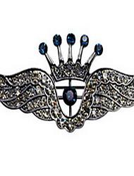 корейская мужчины сплава корона крылья брошью