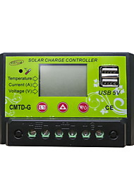 CMTD-G2420 PWM 12/24V 20A LCD Dual USB Current Display Temperature Compensation Battery Auto Regulator Solar Controller With Complete Protections