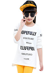 Girl Casual/Daily Solid Tee,Cotton Spring / Fall Long Sleeve Short