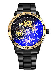 Men's Skeleton Watch / Fashion Watch / Wrist watch / Mechanical Watch Automatic self-winding Hollow Engraving / Noctilucent / Colorful
