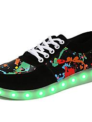 Unisex-Sneakers-Casual Sportivo-Comoda Scarpette da culla Cinturino alla caviglia Light Up Shoes-Piatto-PU (Poliuretano)-Nero