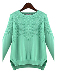 Large yards women Long sleeves Round neck Was thin Rendering Hedging Sweater