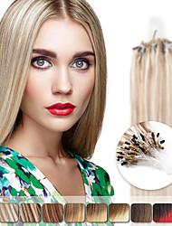 neitsi 20 '' 50g rectas enlaces micro del anillo del lazo ombre extensiones de cabello 1g / s 100% del pelo humano de Remy