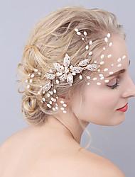 Mujer Aleación Perla Artificial Celada-Boda Ocasión especial Peinetas 1 Pieza