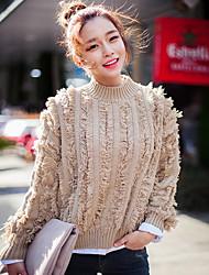 Korea purchasing wild section perspective chuu flash rib collar loose warm sweater