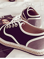 Women's Sneakers Others Fabric Casual Black White