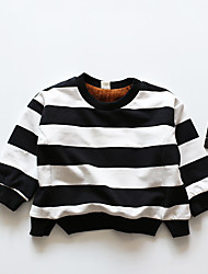 Girl Going out Striped Tee,Cotton Winter Long Sleeve