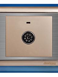 fio de aço inoxidável som do painel corredor desenho ouro e interruptor do sensor de controle de luz