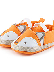 Kids' Girls' Baby Flats First Walkers Crib Shoes Linen Casual Dress First Walkers Crib Shoes Orange Green Light Pink Flat