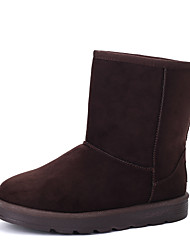 Women's Boots Spring Fall Winter Comfort Fabric Outdoor Casual Flat Heel Black Blue Brown Red Gray
