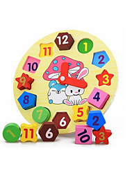 Jigsaw Puzzles Educational Toy Building Blocks DIY Toys Wood Rainbow