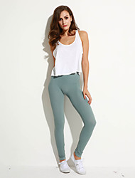 Women's Solid Gray Skinny Pants,Casual / Day