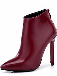 Women's Boots Winter Other Leatherette Dress Stiletto Heel Black Burgundy