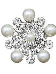 Women'S White Pearl Brooches 1pc