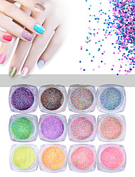 1set Nail Polish Powder Specifications Pearl Multi - Color Fluorescence