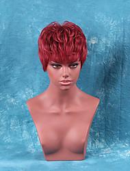 perucas naturais rectas onduladas curtas humanos cabelo para a mulher negra