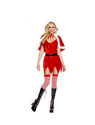 Cosplay Costumes Festival/Holiday Halloween Costumes Solid Christmas Female Nylon