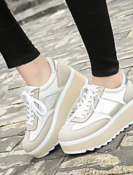 Damen-Sneaker-Lässig-WildlederKomfort-Schwarz / Beige