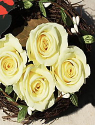 3.5-4.5cm Nine Yellow Roses/Box Preserved Fresh Flowers