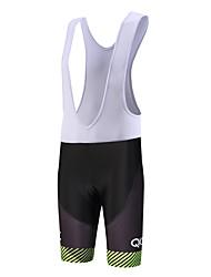 QKI Cycling Wear Twill Cycling Bib Shorts Mens /Quick Dry / Anatomic Design  / 5D Coolmax Gel Pad
