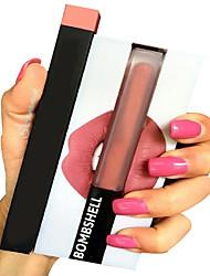 Gloss Labial / Delineador de Lábios / Batons Molhado Creme Gloss Colorido / Cobertura / Longa Duração / Natural / Respirável