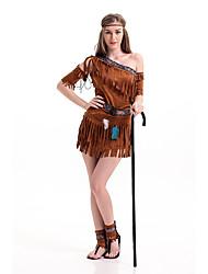 Disfraces de Cosplay Disfraces Romanos / Disfraces Egipcios Cosplay de Películas Gris Un Color Vestido / Para la CabezaHalloween /