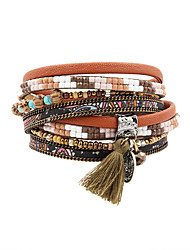 Bracelet Charmes pour Bracelets / Bracelets Wrap / Bracelets en cuir / Bracelet Cuir / StrassBohemia style / Personnalisé / Fait à la