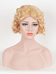 las mujeres calientes de la venta de color rubio pelucas sintéticas pelucas rizadas cortas