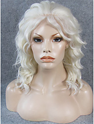 IMSTYLE 14''Hot Selling Blonde Short Wave Synthetic Lace Front Wigs Heat Resistant Fiber 1001/613 Color