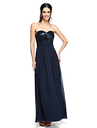 LAN TING BRIDE Floor-length Spaghetti Straps Bridesmaid Dress - Sparkle & Shine Sleeveless Chiffon Sequined