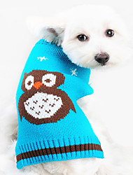 Dog Sweater Orange / Blue Dog Clothes Spring/Fall Animal Keep Warm