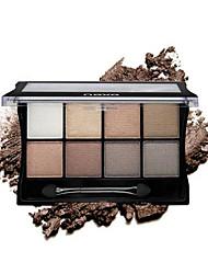 8 Paleta de Sombras Secos Paleta da sombra Creme Normal Maquiagem para o Dia A Dia