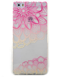 For Huawei Y5II Y6II Y625 Y635 5X P9 P8 Lite Case Cover Pink Lotus Pattern Painted TPU Material Phone Case