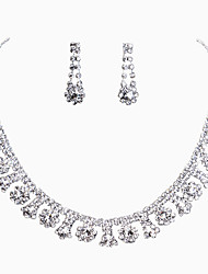 Heart Style Rhinestone Necklace Set