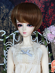 1/3 1/4 BJD SD DOD Doll Wigs Accessories Synthetic Short Straight Brown Color Hair Wig Not for Human Adult