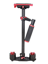 YELANGU S60T 60cm Carbon Fiber Handheld Stabilizer for DSLR Camera DV(Red)