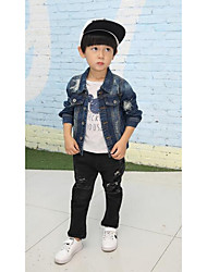 Boy Casual/Daily Solid Suit & Blazer,Cotton Winter Long Sleeve