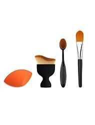 3 x Makeup BrushPowder Blush Foundation Brush Sponge Puff  Contour Brushes Pincel Maquiagem