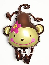 Balões Decoração Para Festas Macaco alumínio Marrom Para Meninos / Para Meninas 5 a 7 Anos