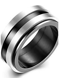 Ringe Party / Alltag / Normal Schmuck Edelstahl Herren Ring 1 Stück,7 / 8 / 9 / 10 Schwarz