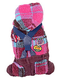 Dog Clothes/Jumpsuit Red / Yellow Dog Clothes Winter / Spring/Fall Plaid/Check Keep Warm