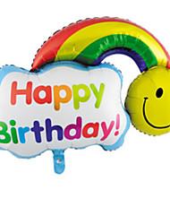 Balões alumínio Arco-Íris Para Meninos / Para Meninas 2 a 4 Anos / 5 a 7 Anos / 8 a 13 Anos